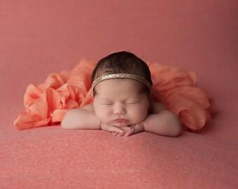 gold baby headband, gold infant headband, gold newborn headband, gold headband, gold sparkle headband, baby headband, newborn headband, gold