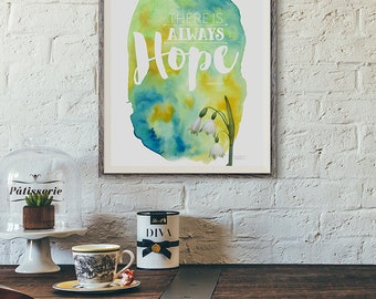 OUAT Snow White Prince Charming | Watercolor + Typography Quote Print