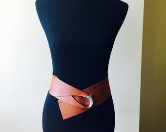 Vintage Belt Vintage 80s Cinch Waist belt Hipster Boho Festival Wear Elastic Stretch Belt