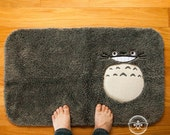 My Neighbor Totoro Inspired - Embroidered Bath Mat or Rug