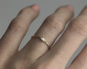 Marquise Diamond Ring, Sideways Diamond Ring, Horizontal Diamond Ring, Modern Diamond Band, Skinny Diamond Ring, Yellow Gold Engagement Ring
