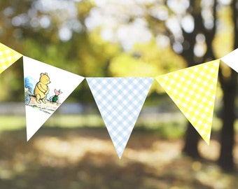 INSTANT DOWNLOAD: Classic Winnie The Pooh Printable Bunting