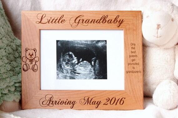 Grandparent Gift Sonogram Frame Baby Boy Keepsake