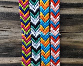 Colorful Chevron Friendship Bracelets - String Friendship Bracelet - Custom Friendship Bracelets - Best Seller