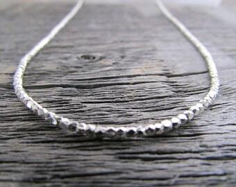 Silver Bead Necklace, Hill Tribe Silver Necklace, Hill Tribe Necklace, Boho Necklace, Bohemian Necklace, Wrap Bracelet, Women's Necklace