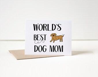 Dog Mother's Day Card, Dog Mom Card, Dog Card