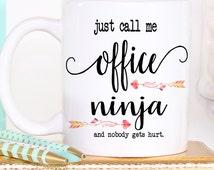 Funny Coffee Mug - Secretary Gift - Coworker Gift - Office Gift Idea - Secretary Day Gift - Unique Gift Idea - Office Worker Gift - Funny Mu