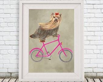 Yorkshire Terrier dog poster, dog decor dog illustration dog picture dog gift for dog lover dog Print dog art yorkie print, terrier print