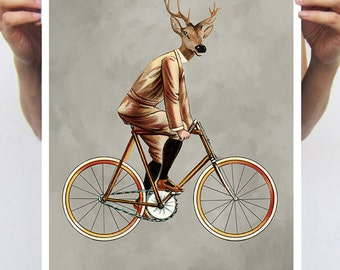 Deer Poster by Coco de Paris