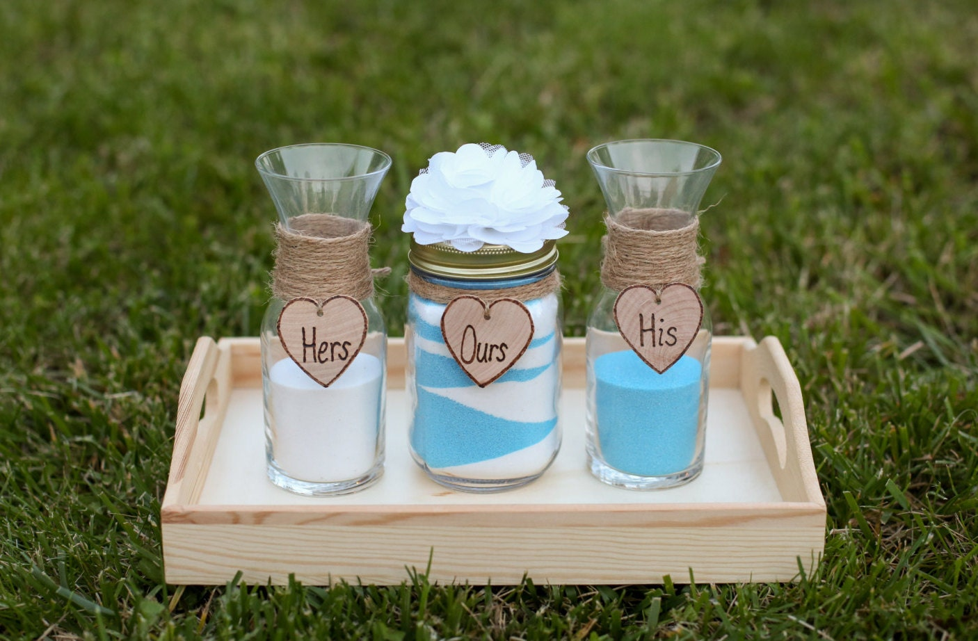 personalized rustic wedding unity sand ceremony set custom