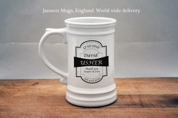 Usher Wedding Gifts: Wedding Usher Gifts For Usher Beer Stein Usher Beer Glass
