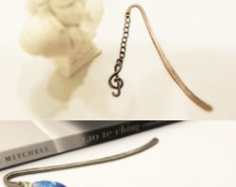 Bronze tone Metal Bookmark |Treble Clef Metal Bookmark | Music Note Metal Bookmark | Eiffel Tower Bookmark|Eiffel Tower Metal Bookmark