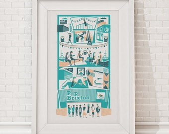 Pop Brixton Print / London illustration