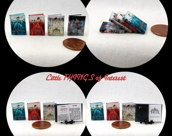 28 dollhouse miniature book cover set 4 collection of 28 - The dollhouse from fairy tales to reality ...