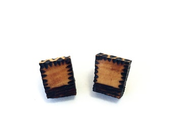 Natural Wooden Earrings