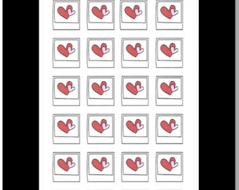 Picture Frame with Hearts    Stickers for Life Planner
