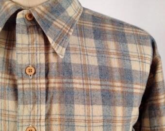 Vintage Plaid Wool Shirt by Pendleton Size XL