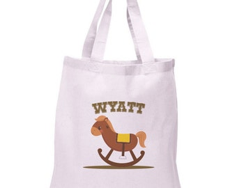 Cowboy Tote Bag | Rocking Horse Cowboy Cotton Tote | COWBOY-201