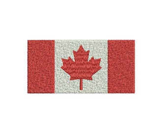 Machine Embroidery Design Instant Download - Canadian Flag