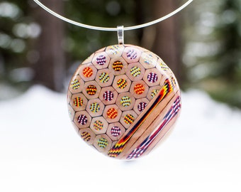 Necklace from Magic colored pencils