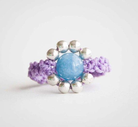 Amazonite pop violet ring