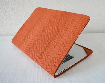 MacBook Air 11/ 12/ 13' Leather cover/ MacBook sleeve/ Macbook laptop case/ Leather/ MacBook Air case/ Notebook protection/ Orange/ Macbook
