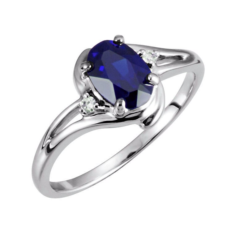 blue sapphire gold ring 10k white gold sapphire ring with