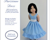 PDF Pattern #SS2016-01-A. Parisienne dress for A Girl for All Time dolls.