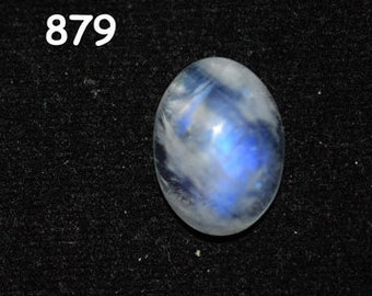 10.3 ct. Rainbow white Moonstone cabochons - 12 x 16 mm -  oval  blue purple fire - Flash Rainbow MOONSTONE - code :879