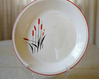 Universal Potteries Cattails 10 inch pie plate