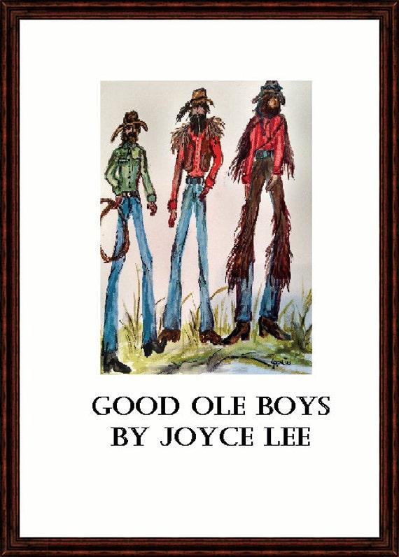 Southwestern Fine Art Print The Good Ole Boys 9 x 12
