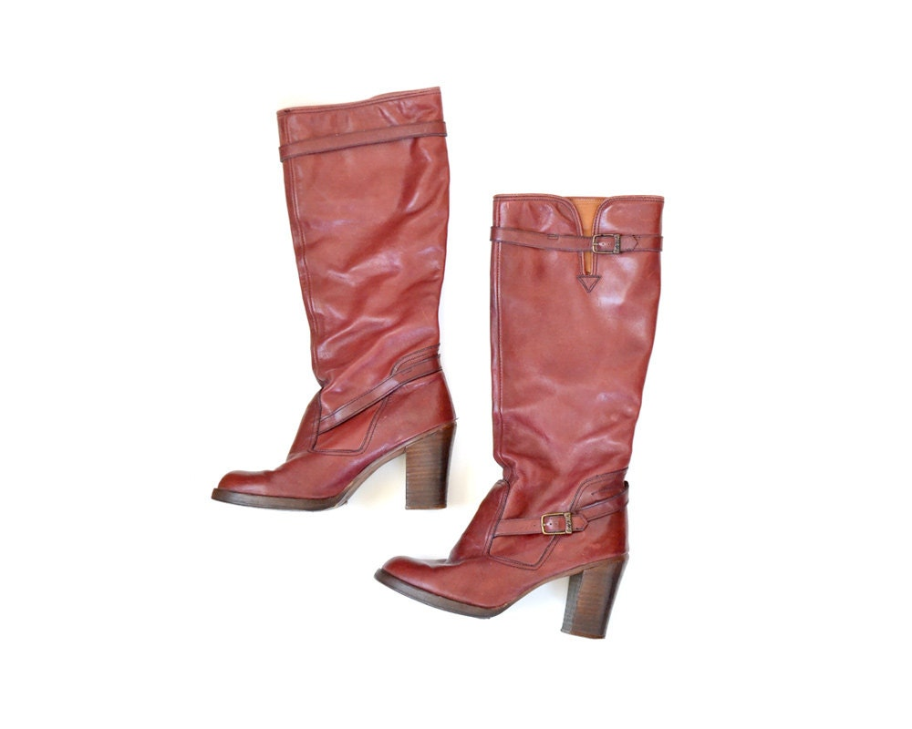 womens boots vintage boots size 9 boots zodiac by