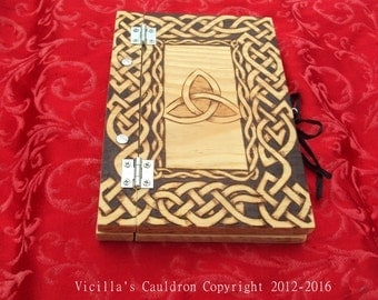 Branwen's Hearth - Grimoire - Book of Shadows - Pine wood - High Quality