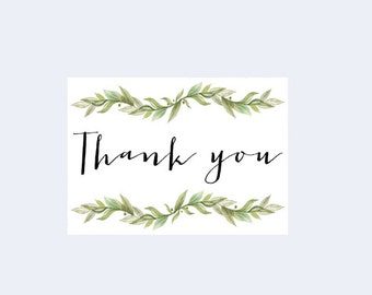 Thank You Card Calligraphy Etsy
