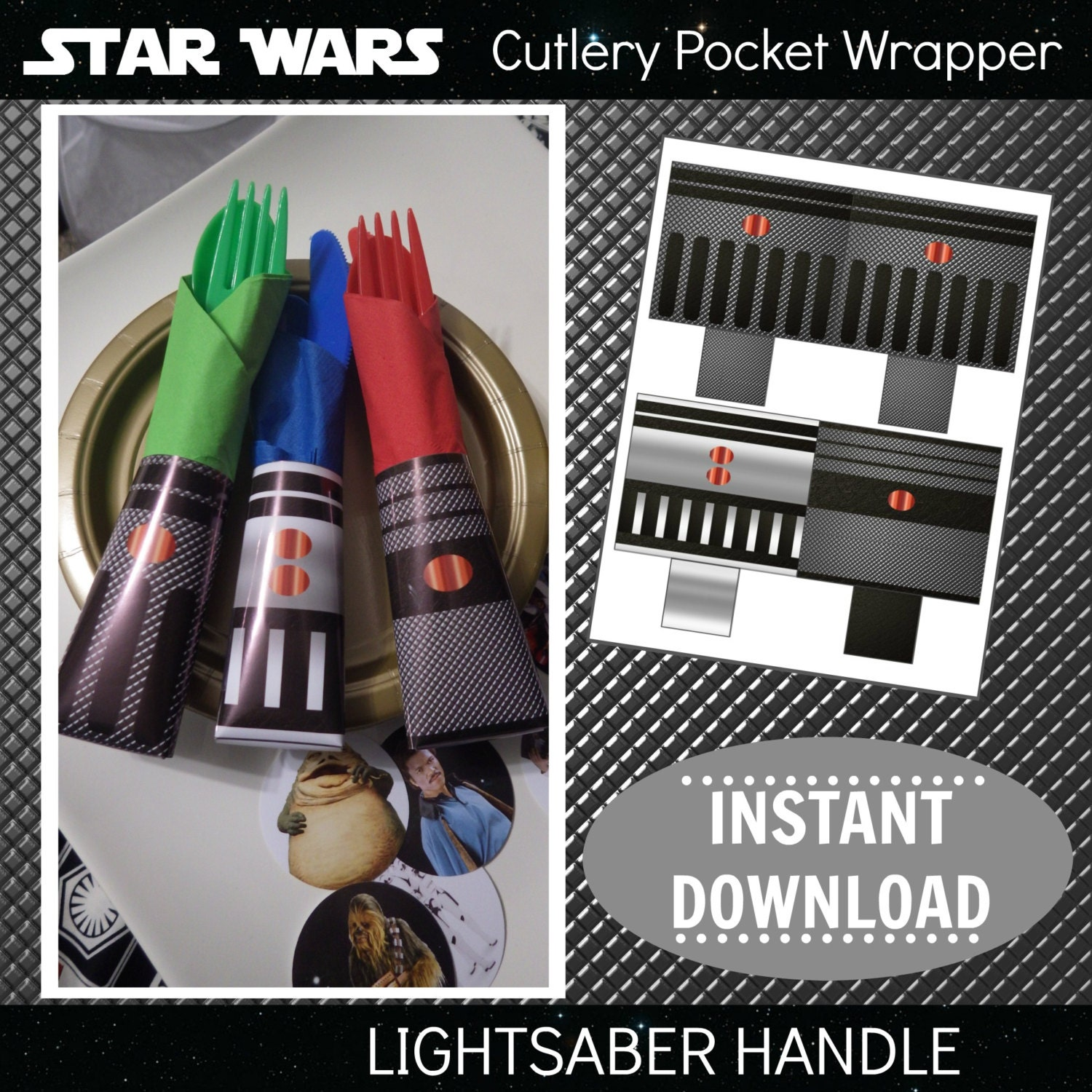 Star Wars Printable Cutlery Pocket Wrappers Napkin Rings