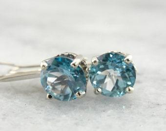 Here Comes the Bride, Bridal Blue Topaz Drop Earrings YF36P4-P