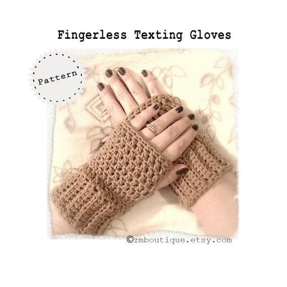 CROCHET Fingerless Gloves Pattern Texting Gloves