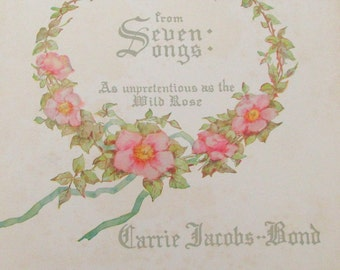 Vintage Sheet Music / I Love You Truly from Seven Songs by Carrie Jacobs Bond
