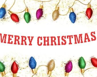 Merry Christmas Banner, Christmas Banner, Christmas Decor, Holiday Banner, Christmas Decoration, Merry Christmas Sign, Christmas Photo Prop