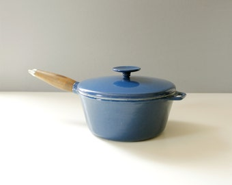 Copco Blue Enamel Sauce Pot Michael Lax Mid Century Modern