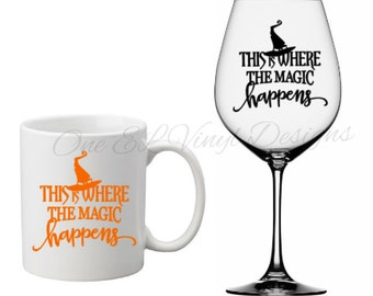 This is Where The Magic Happens-Halloween Decal, Vinyl Decals - Mugs/Wine Glass NOT included