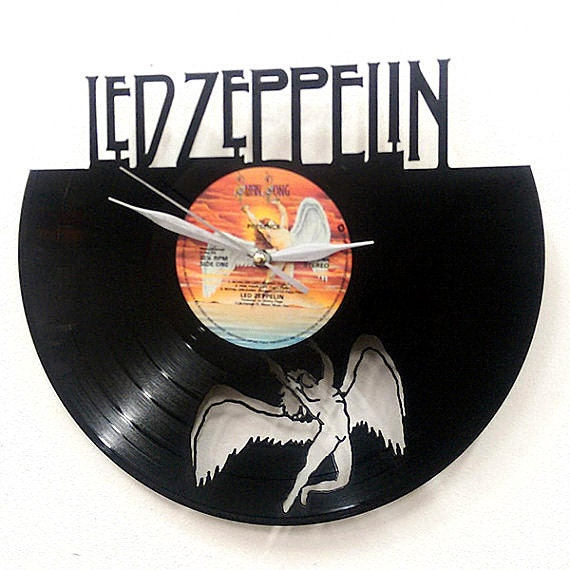 Led Zeppelin Wall Art Vinyl Lp Record Clock Or Framed Great