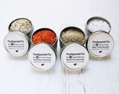 Gourmet Foodie Gift, Infused Salt Quad, Spice kit, Gift under 50