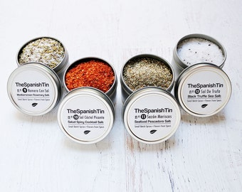 Grill and Entertain Foodie gift, Artisanal Salts Gourmet, Birthday Food Gift