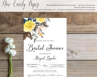 Printable Bridal Shower Invitation - the Lola Collection