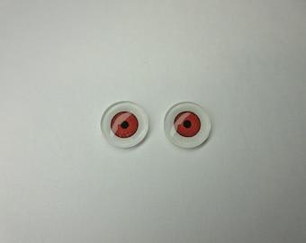 DESTASH - Cabochon Doll Eyes - Blood Rose - 12mm