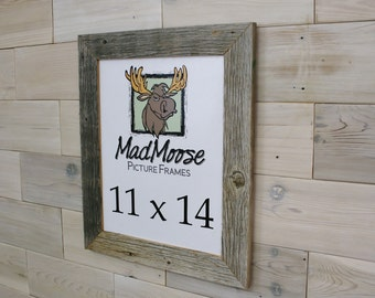 "11x14 Barn Wood [Thin x 2""]  Picture Frame"