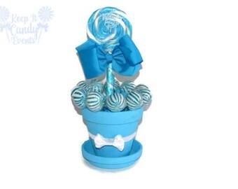 Medium Light Blue Lollipop Centerpiece, Blue Lollipop Wedding Centerouece, Bridal Shower Candy Centerpiece, Candy Buffet, Sweet 16 Candy