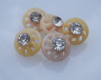 SET  Vintage Rhinestone Buttons