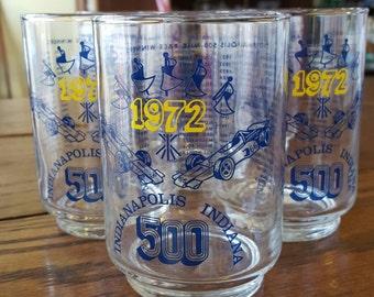 Set of 6 Indy 500 beverage glasses